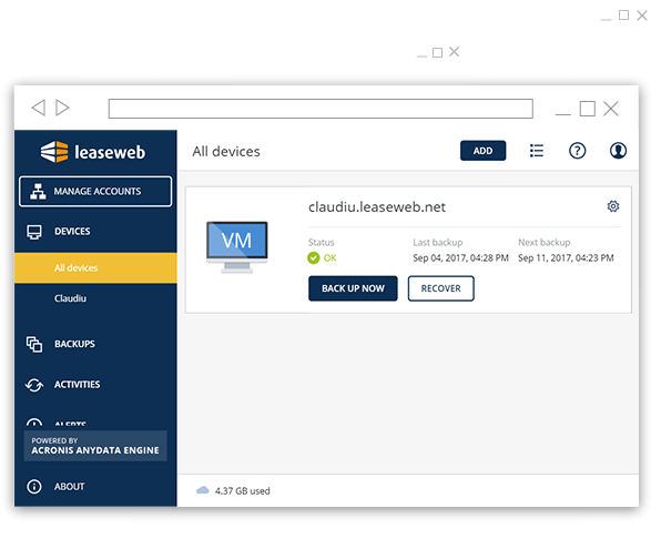Acronis Screen Shot